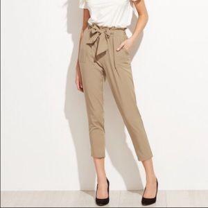 Khaki paperbag pants